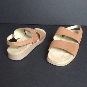 Rockport Sandals Quarter Strap Wedge Heel Size 7.5